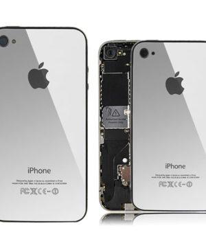iPhone 4 Spiegel Backcover / Rückseite - Silber