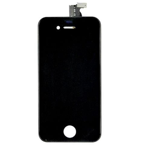 iPhone 4 Retina LCD und Digitizer Front - Schwarz+ Staubschutz