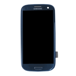 Samsung Galaxy S3 i9300 LCD und Digitizer Front + Rahmen - Pepple Blue