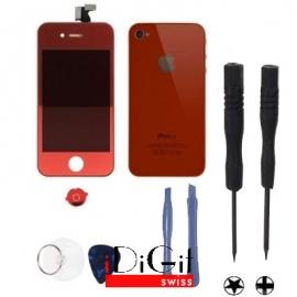 iPhone 4 Umbauset - Rot- halb verspiegelt