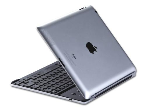Schweizer Layout Alu Bluetooth Tastatur für iPad 2 / 3 / 4 - Silber / Schwarz