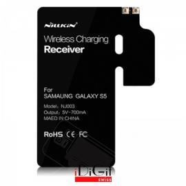 Qi Wireless Charging Standard-Receiver-Modul für Samsung Galaxy S5 - Schwarz