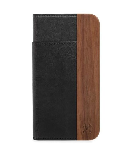 iPhone 7 / iPhone 8 Holz / Leder Klapp Hülle